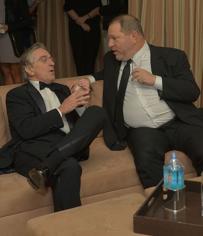 . Actor Robert De Niro (L) and producer Harvey Weinstein attend The Weinstein Company\'s SAG Awards After Party Presented By FIJI Water at Sunset Tower on January 27, 2013 in West Hollywood, California.  (Photo by Charley Gallay/Getty Images for TWC)