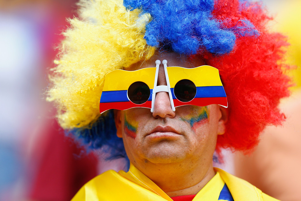 . An Ecuador fan looks on prior to the 2014 FIFA World Cup Brazil Group E match between Switzerland and Ecuador at Estadio Nacional on June 15, 2014 in Brasilia, Brazil.  (Photo by Matthew Lewis/Getty Images)