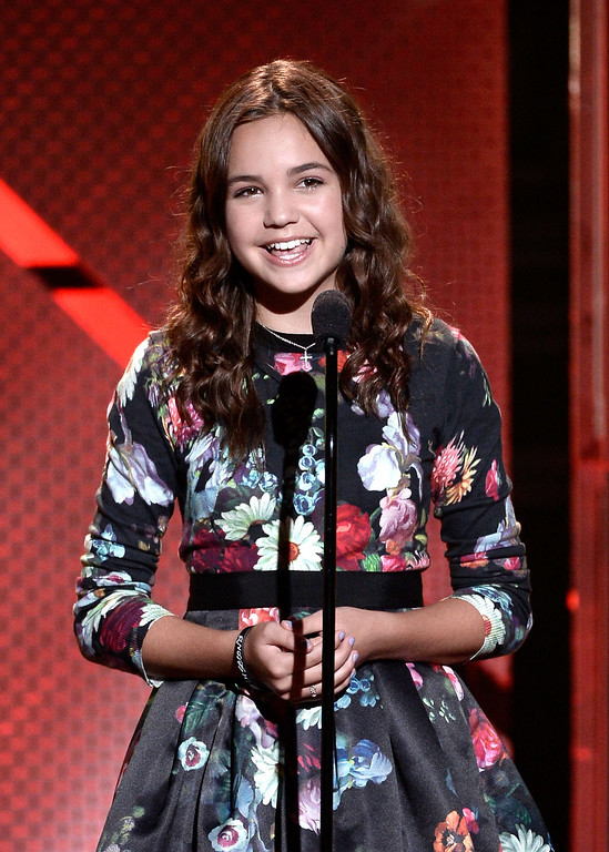 . Actress Bailee Madison speaks onstage during CW Network\'s 2013 Young Hollywood Awards presented by Crest 3D White and SodaStream held at The Broad Stage on August 1, 2013 in Santa Monica, California.  (Photo by Kevin Winter/Getty Images for PMC)