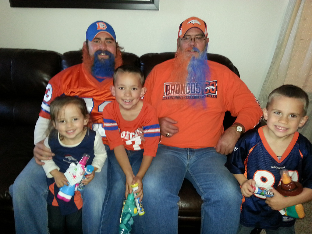 . Go Broncos!!!! Wish I could afford to be there Mile High is going to be rockin. We are United in Orange. Bring The Thunder Denver!!!!   Photo by Laura Moody