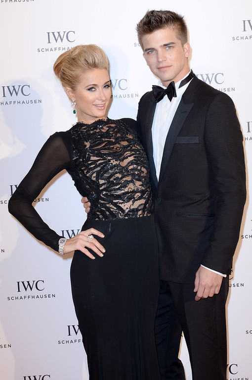 ". Paris Hilton and River Viiperi attend the exclusive ""For The Love Of Cinema\"" event hosted by Swiss luxury watch manufacturer IWC Schaffhausen at the famous Hotel du Cap-Eden-Roc on May 19, 2013 in Antibes, France.  (Photo by Samir Hussein/Getty Images for IWC )"
