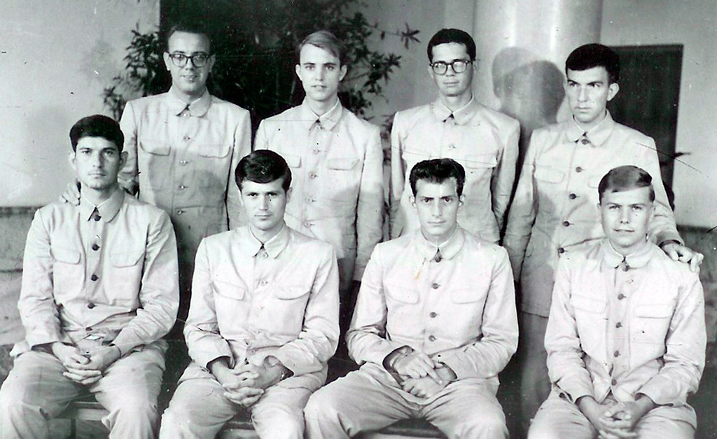 . FILE - In this photo released by the U.S. Navy, crew members of USS Pueblo pose while in captivity in North Korea in 1968. Many of the crew who served on the vessel, then spent 11 months in captivity in North Korea, want to bring the Pueblo home. Throughout its history, they argue, the Navyís motto has been ìdonít give up the ship.î The Pueblo, in fact, is still listed as a commissioned U.S. Navy vessel, the only one being held by a foreign nation. (AP Photo/US Navy)