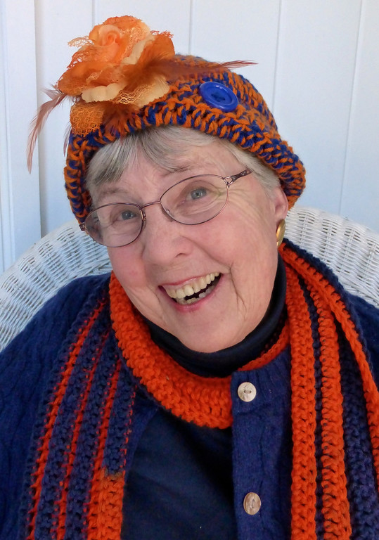 . Grandma Ann is ready to cheer the Broncos!