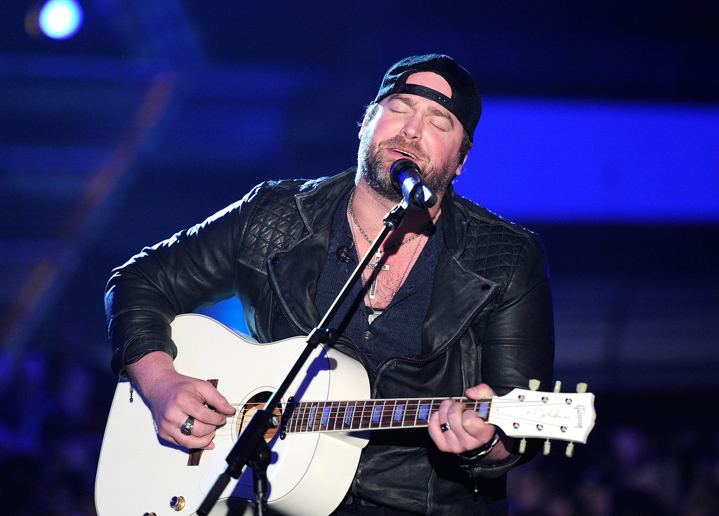 . Singer Lee Brice performs onstage during the 49th Annual Academy Of Country Music Awards at the MGM Grand Garden Arena on April 6, 2014 in Las Vegas, Nevada.  (Photo by Ethan Miller/Getty Images)