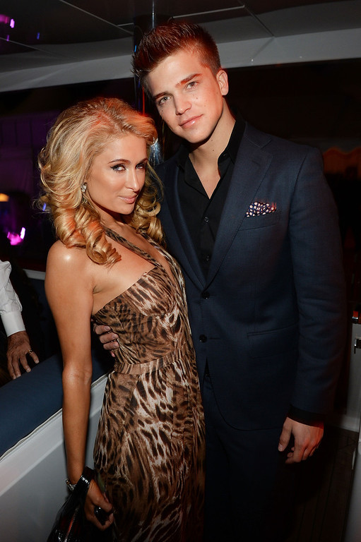 ". Paris Hilton (L) and River Viiperi attend the ""Seduced and Abandoned\"" Premiere and After Party during the 66th Annual Cannes Film Festival at Lady Joy Yacht on May 20, 2013 in Cannes, France.  (Photo by Michael Buckner/Getty Images for LMG)"
