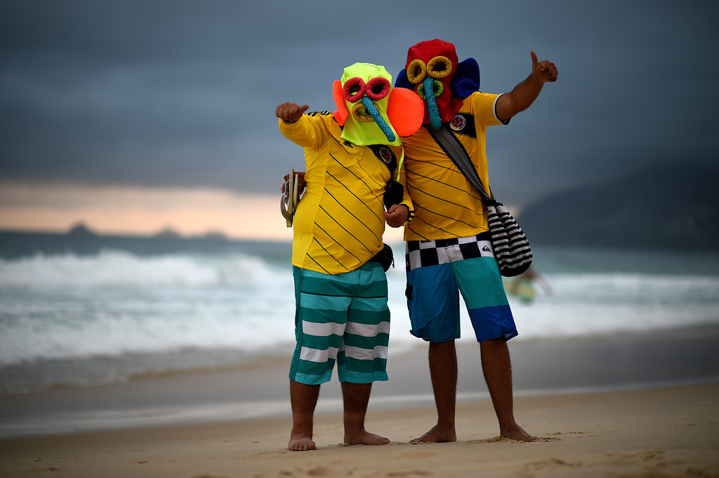 . Fans enjoy the evening on Ipanema beach on June 11, 2014 in Rio de Janeiro, Brazil.  (Photo by Matthias Hangst/Getty Images)
