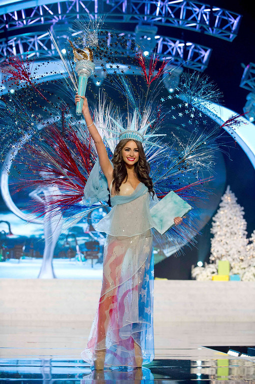. Miss USA Olivia Culpo performs onstage at the 2012 Miss Universe National Costume Show at PH Live in Las Vegas, Nevada December 14, 2012. The 89 Miss Universe Contestants will compete for the Diamond Nexus Crown on December 19, 2012. REUTERS/Darren Decker/Miss Universe Organization/Handout