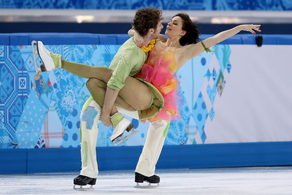. Nathalie Pechalat and Fabian Bourzat of France compete in the Figure Skating Ice Dance Free Dance on Day 10 of the Sochi 2014 Winter Olympics at Iceberg Skating Palace on February 17, 2014 in Sochi, Russia.  (Photo by Matthew Stockman/Getty Images)