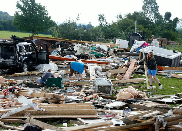 PHOTOS: Tornado destroys homes in upstate New York killing four people