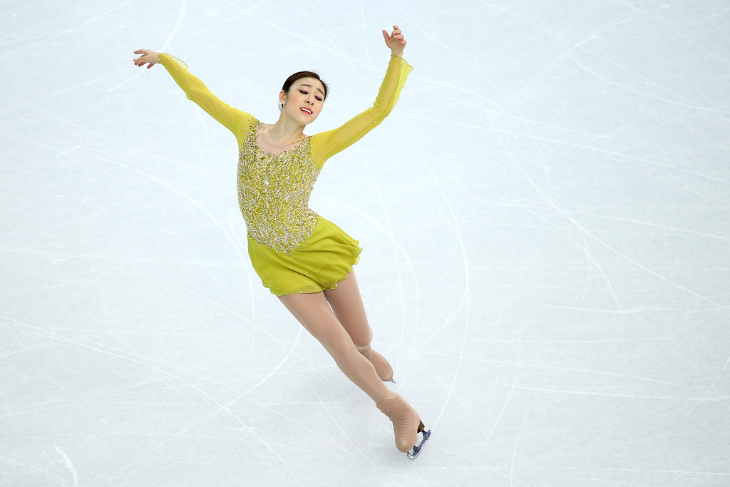 . SOCHI, RUSSIA - FEBRUARY 19:  Yuna Kim of South Korea competes in the Figure Skating Ladies\' Short Program on day 12 of the Sochi 2014 Winter Olympics at Iceberg Skating Palace on February 19, 2014 in Sochi, Russia.  (Photo by Ryan Pierse/Getty Images)