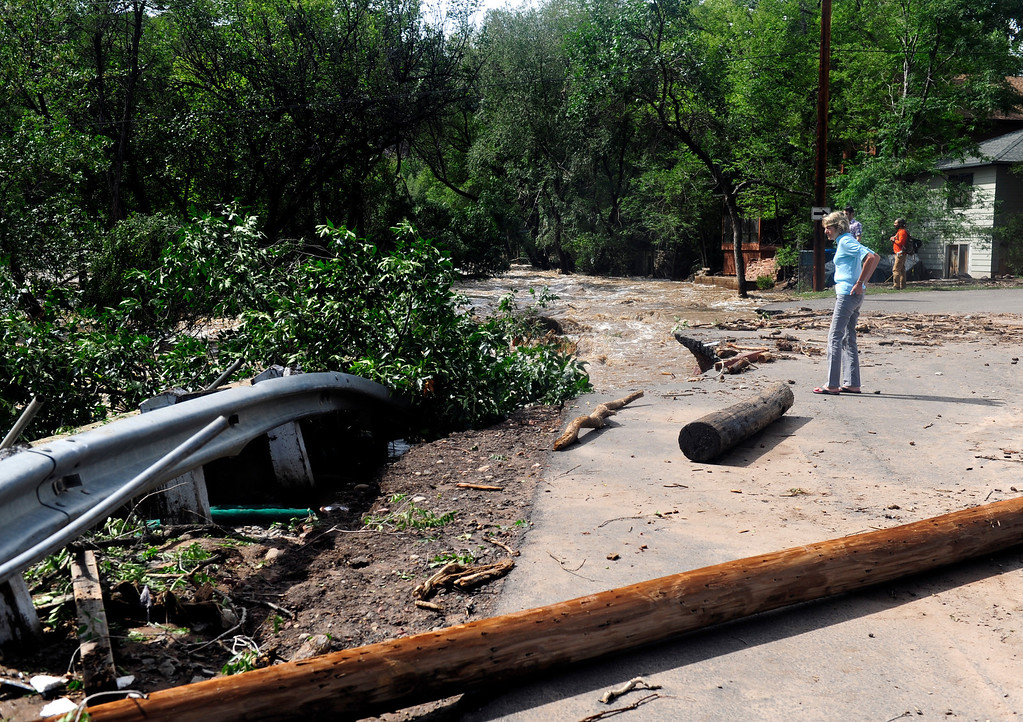 . Flood damage in Lyons Friday, Sept. 13, 2013.(Greg Lindstrom/Times-Call)