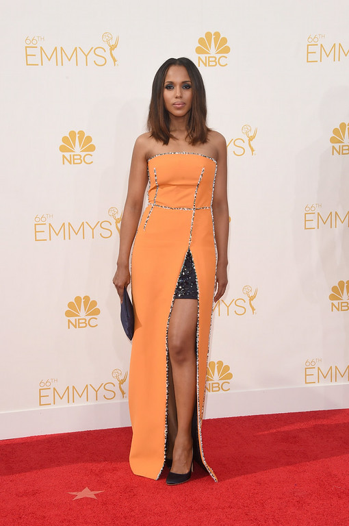. Actress Kerry Washington attends the 66th Annual Primetime Emmy Awards held at Nokia Theatre L.A. Live on August 25, 2014 in Los Angeles, California.  (Photo by Jason Merritt/Getty Images)
