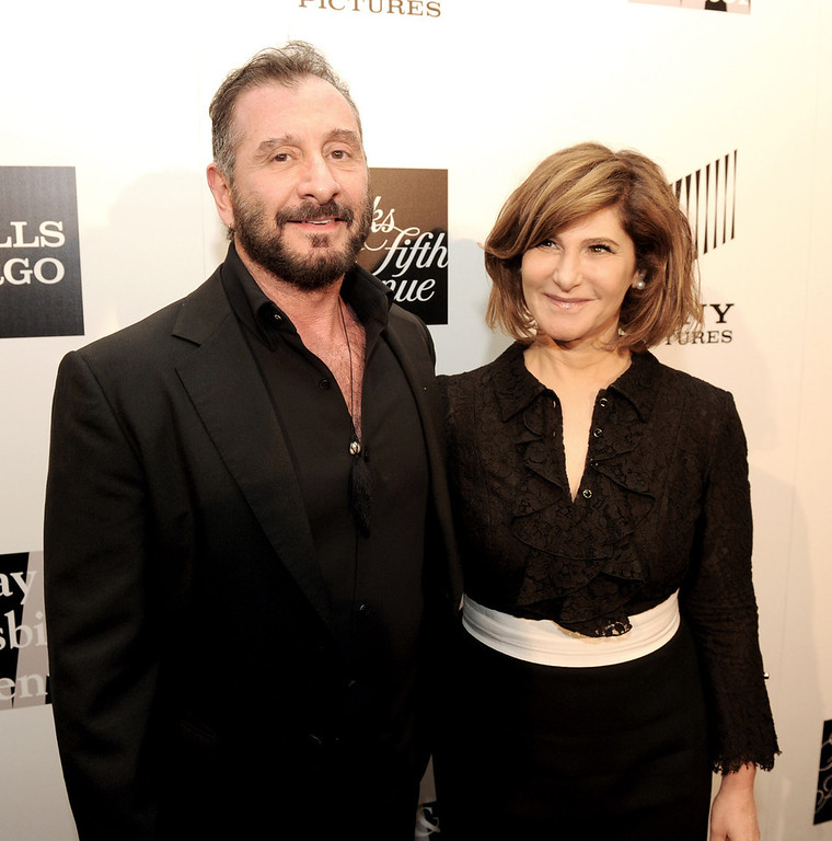 """. Honoree\'s fashion designer Ralph Rucci (L) and Amy Pascal of Sony Pictures Entertainment pose at \""""An Evening\"""" benifiting The L.A. Gay & Lesbian Center at the Beverly Wilshire Hotel on March 21, 2013 in Beverly Hills, California.  (Photo by Kevin Winter/Getty Images)"""