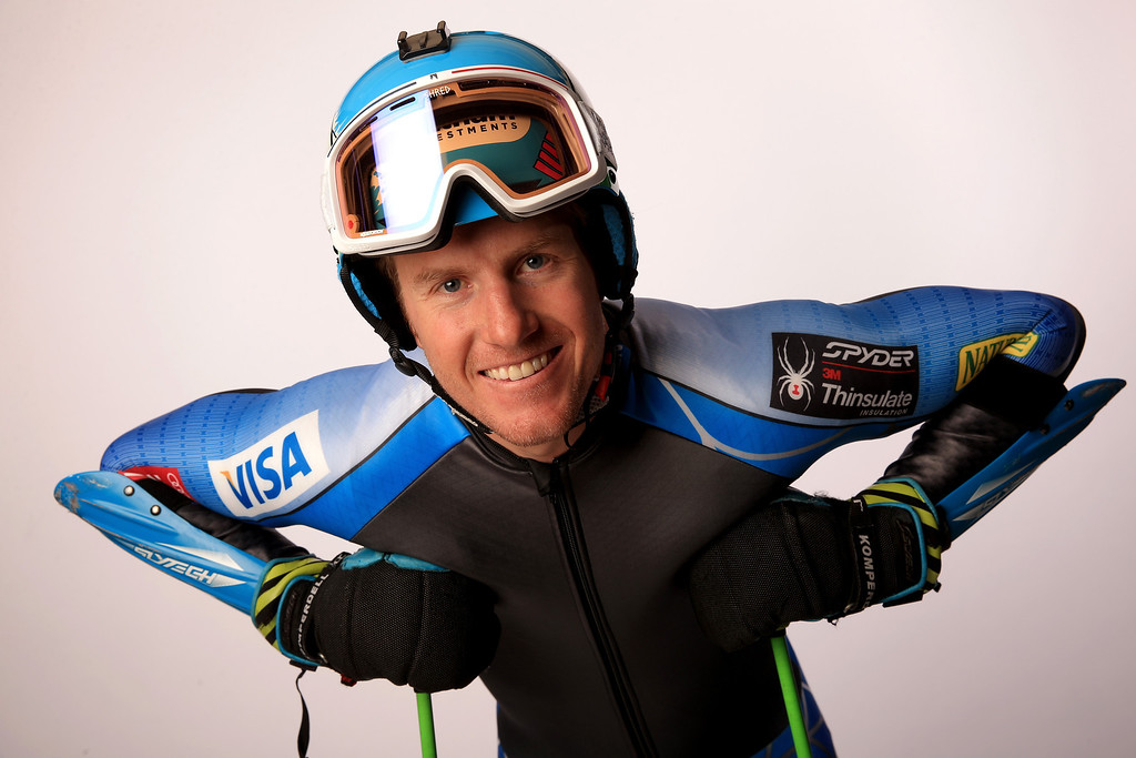 . Alpine skier Ted Ligety poses for a portrait during the USOC Media Summit ahead of the Sochi 2014 Winter Olympics on September 29, 2013 in Park City, Utah.  (Photo by Doug Pensinger/Getty Images)