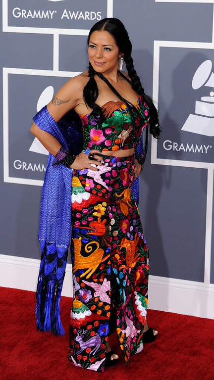 . Lila Downs arrives to  the 55th Annual Grammy Awards at Staples Center  in Los Angeles, California on February 10, 2013. ( Michael Owen Baker, staff photographer)