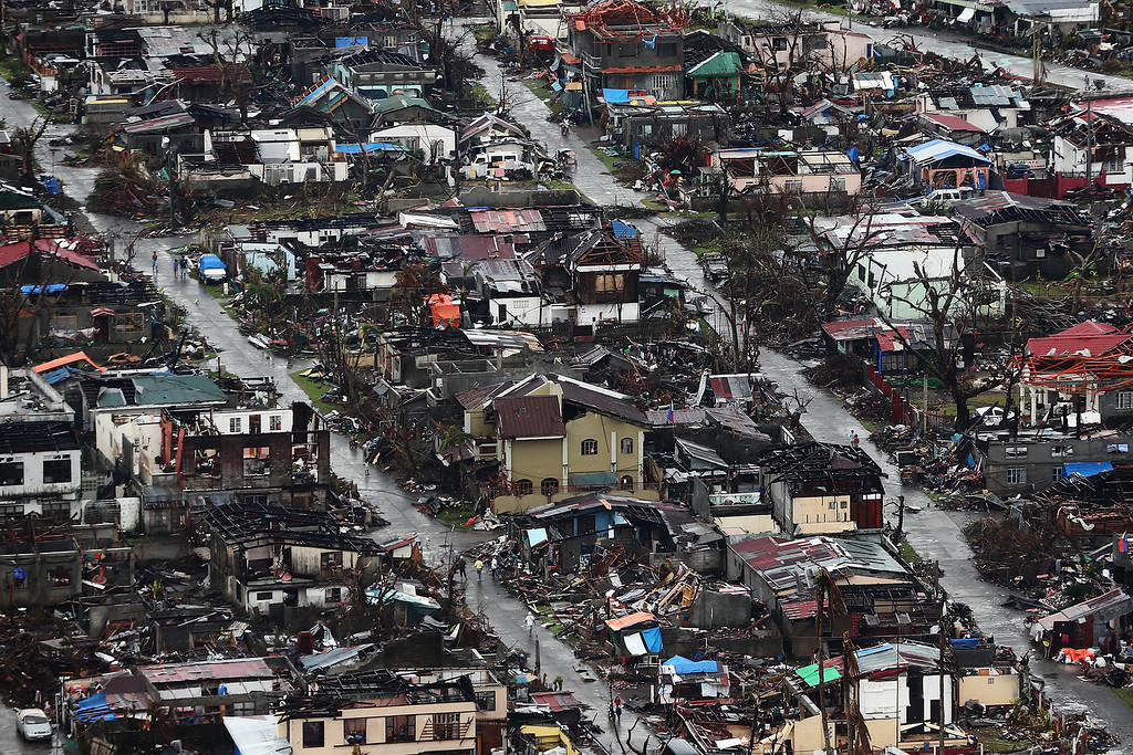 . A general view of the destruction in Tolosa on November 21, 2013 in Leyte, Philippines.  (Photo by Dan Kitwood/Getty Images)
