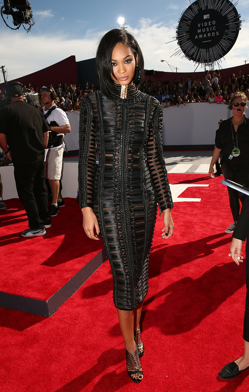 . Model Chanel Iman attends the 2014 MTV Video Music Awards at The Forum on August 24, 2014 in Inglewood, California.  (Photo by Christopher Polk/Getty Images for MTV)