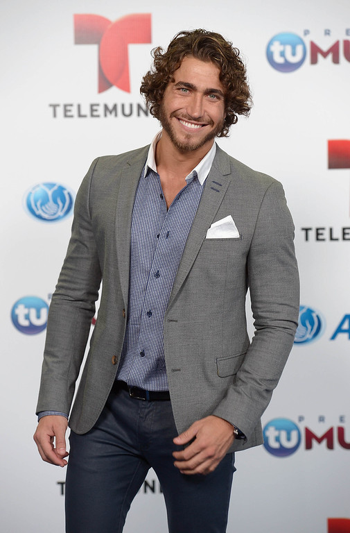. MIAMI, FL - AUGUST 15:  Markel Berto arrives for Telemundo\'s Premios Tu Mundo Awards at American Airlines Arena on August 15, 2013 in Miami, Florida.  (Photo by Gustavo Caballero/Getty Images)