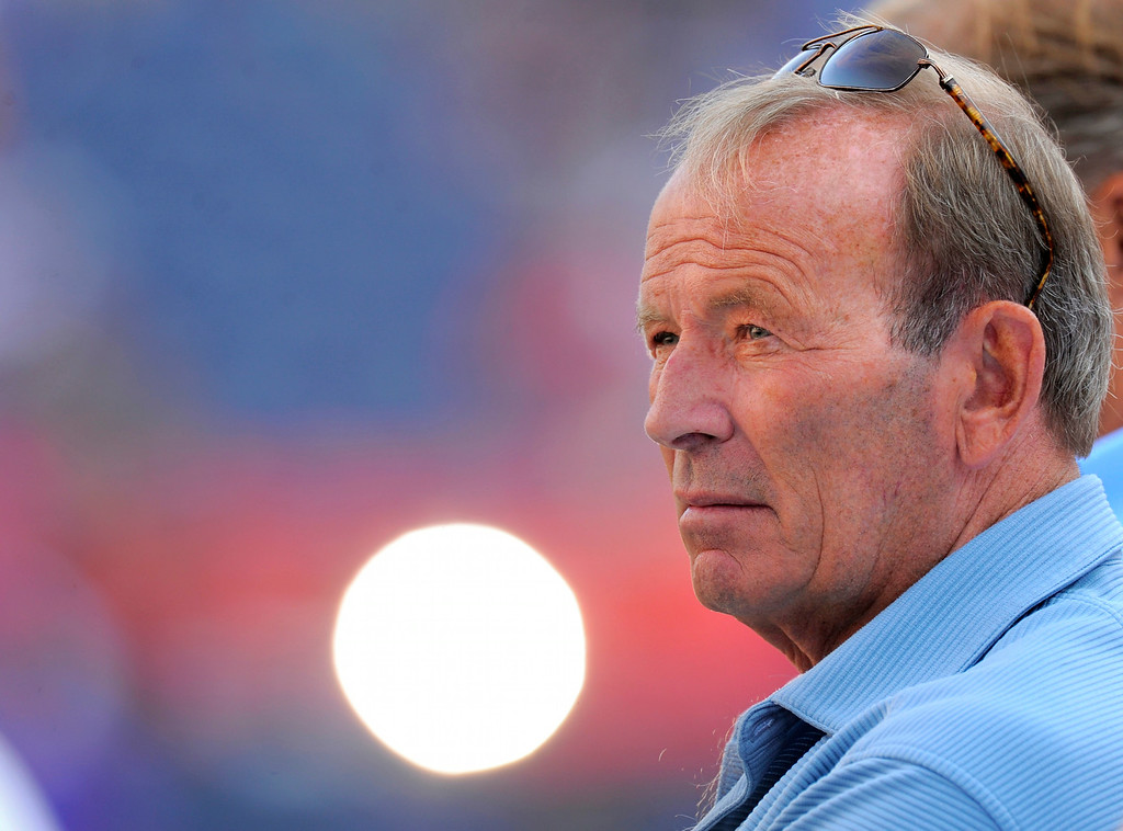 . Denver Broncos team owner Pat Bowlen before the Broncos took on the Buffalo Bills August 20, 2011 at Sports Authority Field at Mile High.  The Denver Post / John Leyba