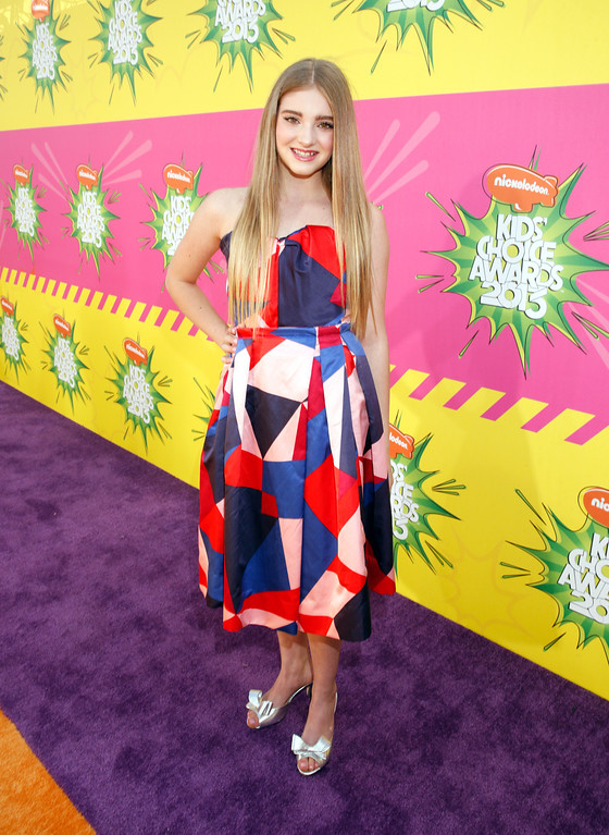 . Actress Willow Shields arrives at the 26th annual Nickelodeon\'s Kids\' Choice Awards on Saturday, March 23, 2013, in Los Angeles. (Photo by Todd Williamson/Invision/AP)