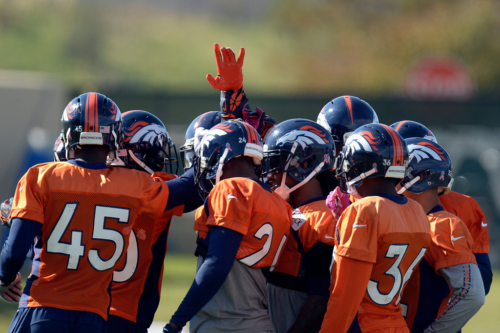 . Denver Broncos prepare for practice October 16, 2013 at Dove Valley. (Photo by John Leyba/The Denver Post)