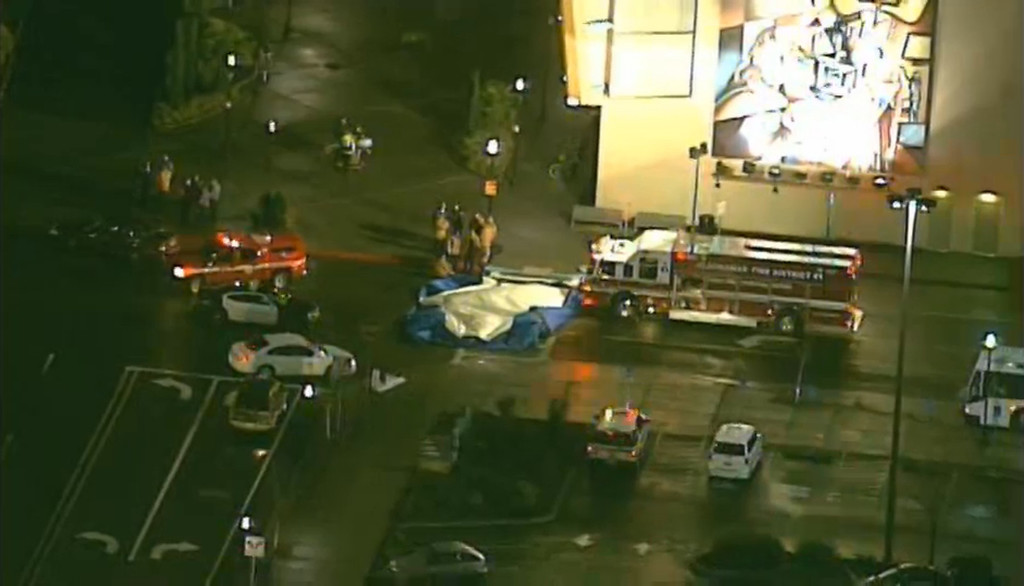 """. A still image taken from video courtesy of KATU-TV shows first responders at a shooting scene at Clackamas Town Center in Portland, Oregon, December 11, 2012. A gunman opened fire inside an Oregon shopping mall on Tuesday in the middle of the busy Christmas shopping season, killing at least two persons before the shooter was \""""neutralized,\"""" police said.   REUTERS/KATU-TV/Handout"""