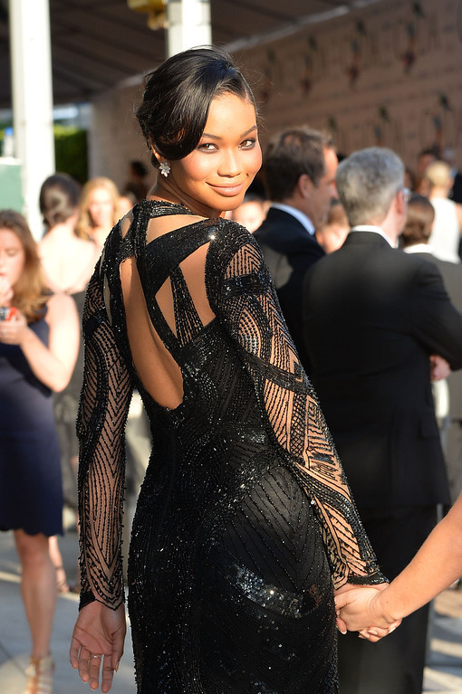 . Model Chanel Iman attends the 2014 CFDA fashion awards at Alice Tully Hall, Lincoln Center on June 2, 2014 in New York City.  (Photo by Mike Coppola/Getty Images)