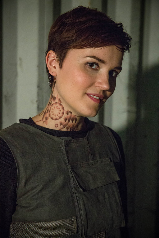 . Author VERONICA ROTH on the set of DIVERGENT