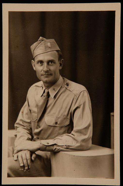 . Father Emil Kapaun, photographed during World War II. (Wichita Eagle/MCT)