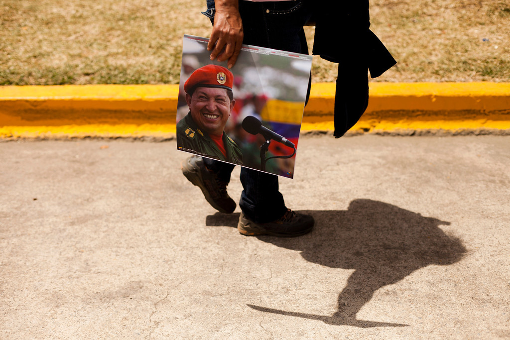 . Supporters of late Venezuela\'s President Hugo Chavez await their turn to pay their last homage to their leader, in Caracas, on March 12, 2013. The campaign to succeed the late Hugo Chavez in Venezuela has officially begun and so has the mudslinging, good and thick. LEO RAMIREZ/AFP/Getty Images