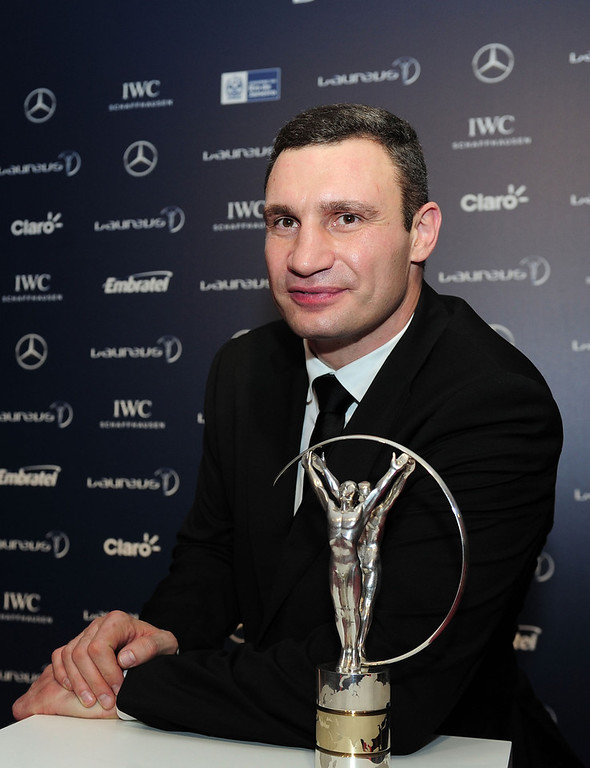 . Vladimir Klitschko attends the 2013 Laureus World Sports Awards at the Theatro Municipal Do Rio de Janeiro on March 11, 2013 in Rio de Janeiro, Brazil.  (Photo by Jamie McDonald/Getty Images For Laureus)