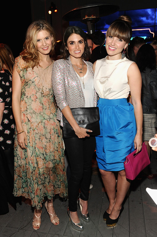 . Actresses Maggie Grace, Nikki Reed and Sophia Bush attend Coach\'s 3rd Annual Evening of Cocktails and Shopping to Benefit the Children\'s Defense Fund hosted by Katie McGrath, J.J. Abrams and Bryan Burk at Bad Robot on April 10, 2013 in Santa Monica, California.  (Photo by Stefanie Keenan/Getty Images for Coach)