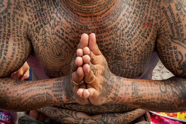 PHOTOS: Tatoo festival honors master Monk tatooist in Thailand