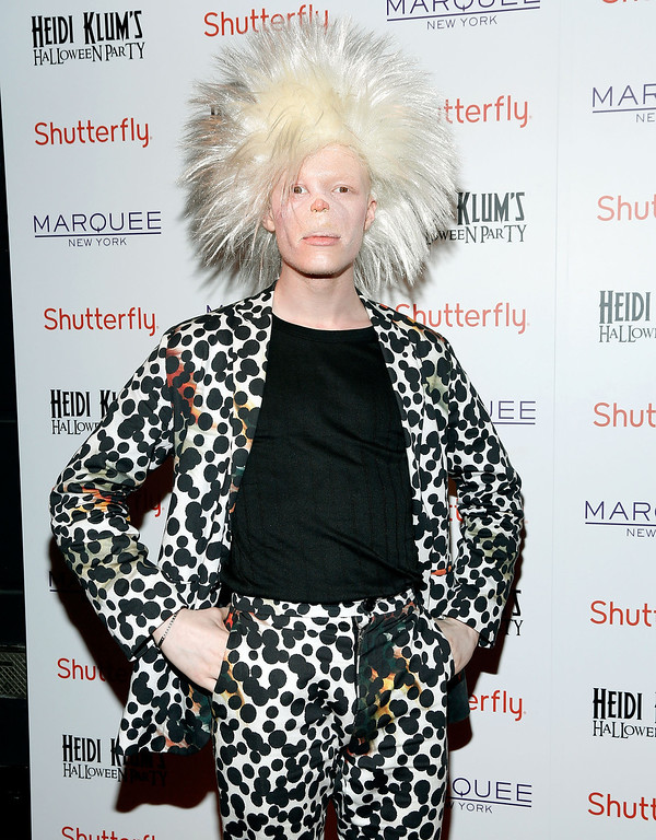 . Shaun Ross attends Shutterfly Presents Heidi Klum\'s 14th Annual Halloween Party sponsored by SVEDKA Vodka and smartwater at Marquee on October 31, 2013 in New York City.  (Photo by Cindy Ord/Getty Images for Heidi Klum)