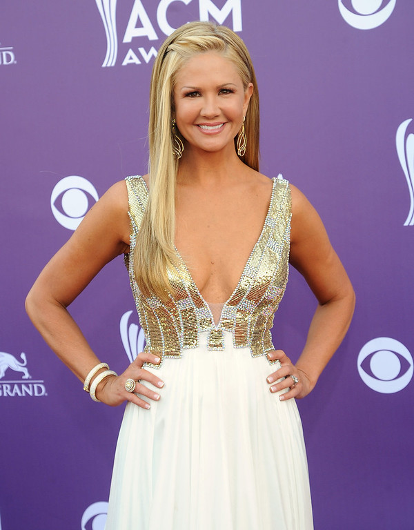 . TV Host Nancy O\'Dell arrives at the 48th Annual Academy of Country Music Awards at the MGM Grand Garden Arena in Las Vegas on Sunday, April 7, 2013. (Photo by Al Powers/Invision/AP)