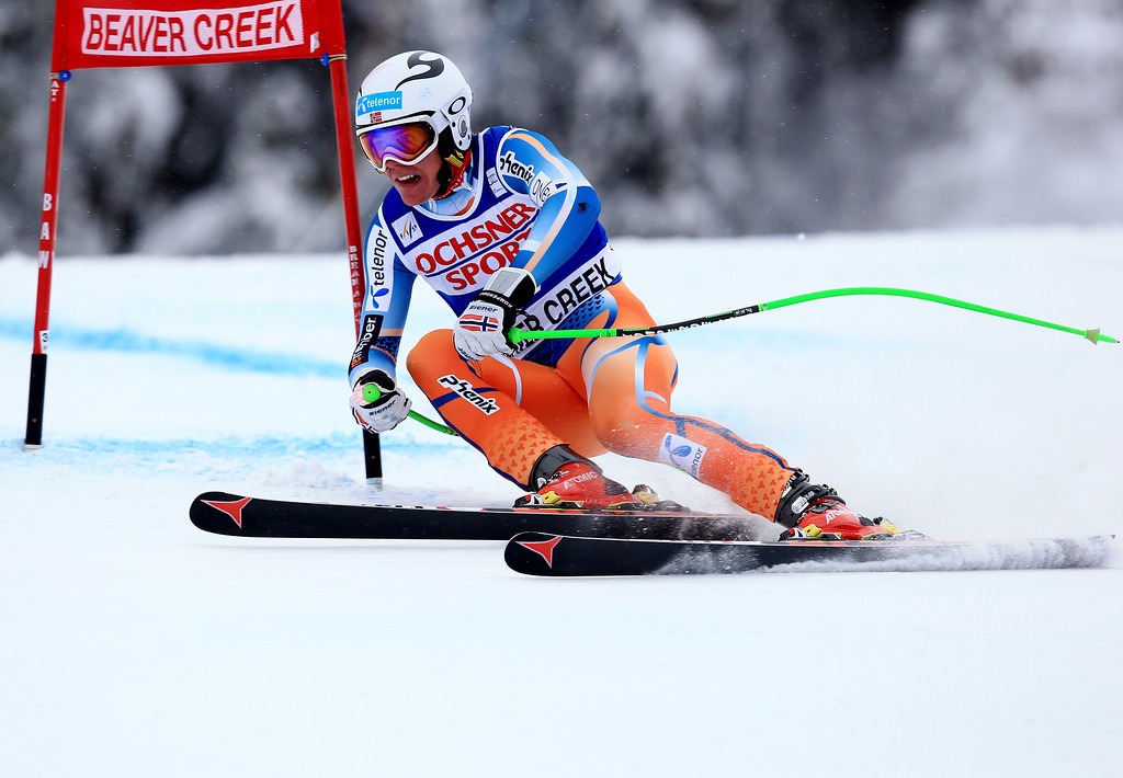 . Aleksander Aamodt Kilde of Norway in action during the 2013 Audi FIS Beaver Creek World Cup Men\'s Super G race on December 7, 2013 in Beaver Creek, Colorado.  (Photo by Doug Pensinger/Getty Images)