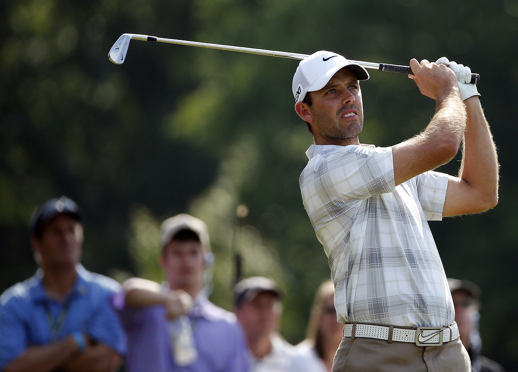 . Charl Schwartzel of South Africa hits his tee shot on the ninth hole during Round Three of the 113th U.S. Open at Merion Golf Club on June 15, 2013 in Ardmore, Pennsylvania.  (Photo by Rob Carr/Getty Images)