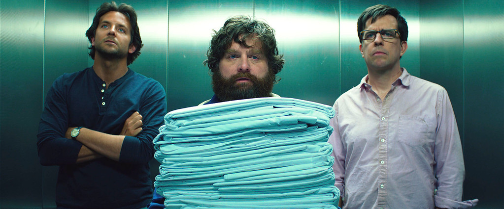 ". (L-r) BRADLEY COOPER as Phil, ZACH GALIFIANAKIS as Alan and ED HELMS as Stu in Warner Bros. Pictures� and Legendary Pictures� comedy  ""THE HANGOVER PART III,\"" a Warner Bros. Pictures release."