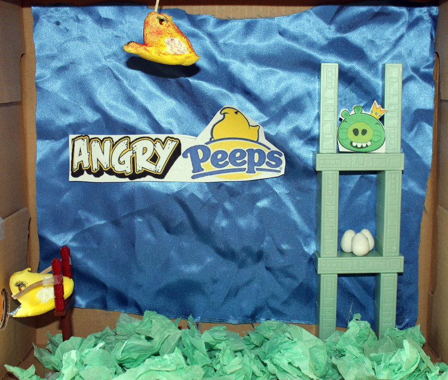 """. \""""Angry Peeps\"""" by Evan Wilusz Age 11"""