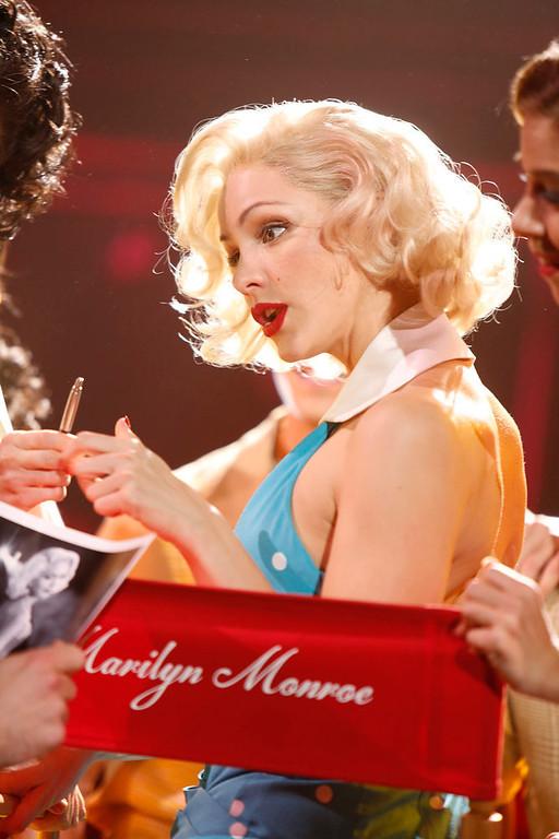 """. SMASH -- \""""On Broadway\"""" Episode 201 -- Pictured: Katharine McPhee as Karen Cartwright -- (Photo by: Craig Blankenhorn/NBC)"""