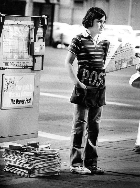 . News Boys. August, 1978. (Photo by Lyn Alweis/The Denver Post Archive)