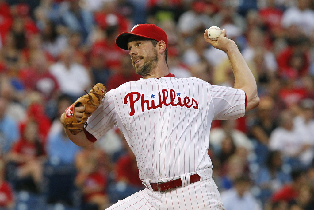 . PHILADELPHIA - AUGUST 21: Starting pitcher Cliff Lee #33 of the Philadelphia Phillies throws a pitch during a game against the Colorado Rockies at Citizens Bank Park on August 21, 2013 in Philadelphia, Pennsylvania. (Photo by Hunter Martin/Getty Images)