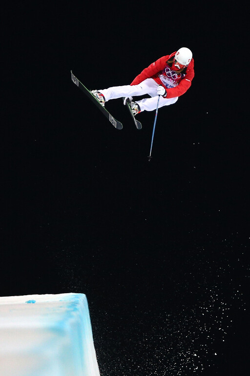 . Mirjam Jaeger of Switzerland competes in the Freestyle Skiing Ladies\' Ski Halfpipe Qualification on day thirteen of the 2014 Winter Olympics at Rosa Khutor Extreme Park on February 20, 2014 in Sochi, Russia.  (Photo by Cameron Spencer/Getty Images)
