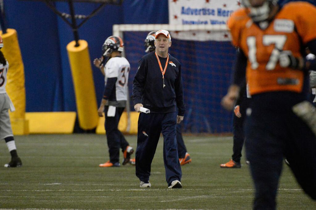 . ENGLEWOOD, CO - DECEMBER 4: Denver Broncos head coach John Fox returns to practice November 4, 2013 at Dove Valley.  (Photo by John Leyba/The Denver Post)