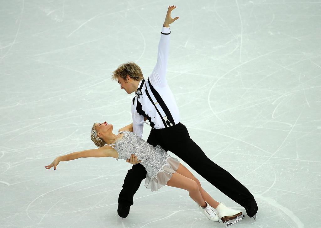 . Penny Coomes and Nicholas Buckland of Great Britain perform during the Figure Skating Ice Dance Short Dance event at the  Iceberg Palace during the Sochi 2014 Olympic Games in Sochi, Russia,16 February 2014.  EPA/HOW HWEE YOUNG