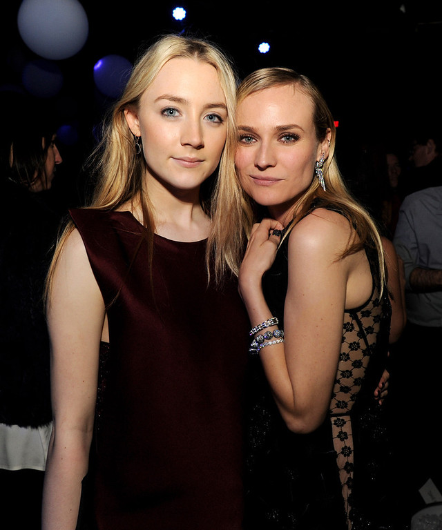 """. Actresses Saoirse Ronan (L) and Diane Kruger pose at the after party for the premiere of Open Road Films\' \""""The Host\"""" at Lure on March 19, 2013 in Los Angeles, California.  (Photo by Kevin Winter/Getty Images)"""