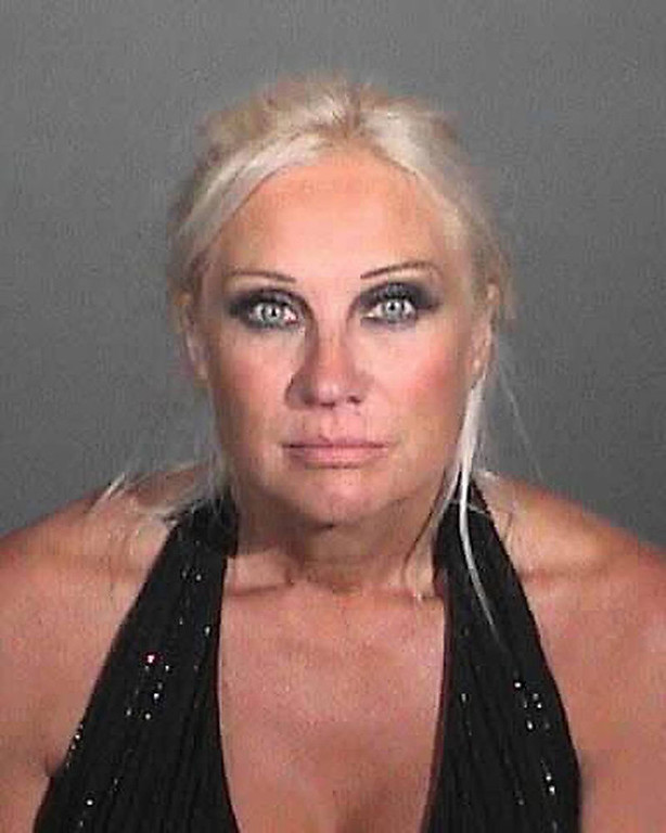 . In this handout image provided by the Los Angeles County Sheriff\'s Department, Linda Bollea, formerly Linda Hogan, is seen after being arrested on suspicion of driving a motor vehicle under the influence of alcohol October 4, 2012 near Malibu, California.  Bollea was released on bail.  (Photo by Los Angeles County Sheriff\'s Department via Getty Images)