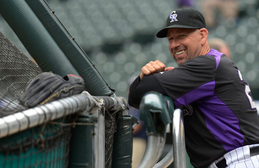 . DENVER, CO. - MAY 07: Colorado Rockies Walt Weiss smiles during batting practice prior to the their game against the New York Yankees May 7, 2013 at Coors Field. (Photo By John Leyba/The Denver Post)