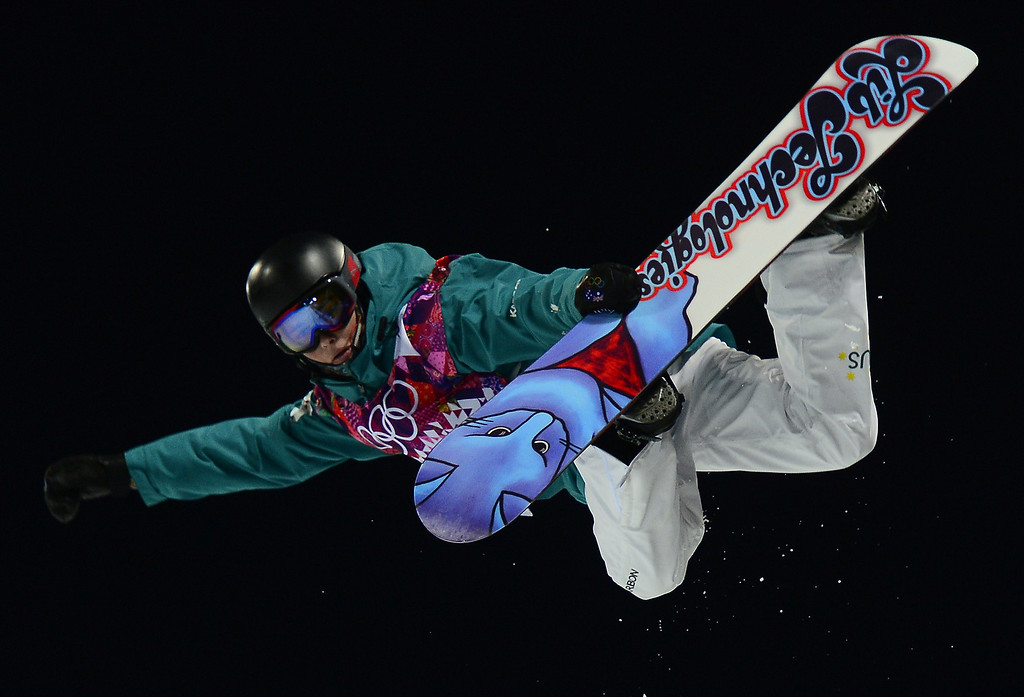 . Australia\'s Kent Callister competes in the Men\'s Snowboard Halfpipe Semifinals at the Rosa Khutor Extreme Park during the Sochi Winter Olympics on February 11, 2014.           AFP PHOTO / JAVIER SORIANO/AFP/Getty Images