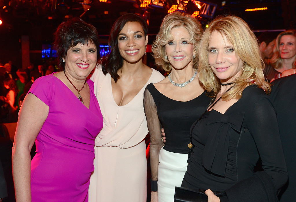 . HOLLYWOOD, CA - JUNE 05:  (L-R) Writer Eve Ensler, actress Rosario Dawson, honoree Jane Fonda, and actress Rosanna Arquette attend the 2014 AFI Life Achievement Award: A Tribute to Jane Fonda After Party at the Dolby Theatre on June 5, 2014 in Hollywood, California. Tribute show airing Saturday, June 14, 2014 at 9pm ET/PT on TNT.  (Photo by Frazer Harrison/Getty Images for AFI)
